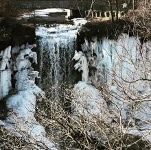 Frozen waterfall at Minnehaha Falls