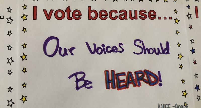 I vote because... Our voices should be heard!