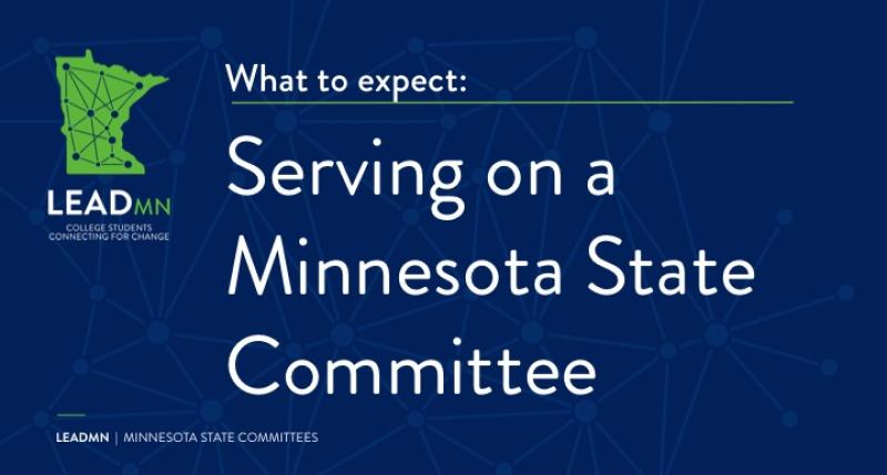What to expect: Serving on a Minnesota State Committee